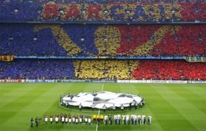 Il tifo del Barcellona