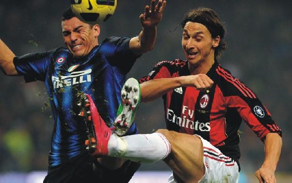 Ibrahimovic-Lucio (foto dalla rete)