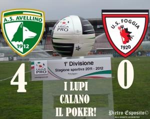 I DIVISIONE: AVELLINO-FOGGIA 4-0