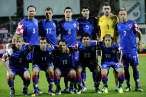 Una formazione della Croazia