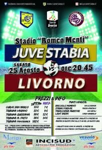 Ecco i prezzi dei tagliandi d'ingresso per Juve Stabia - Livorno (fonte:ssjuvestabia.it)