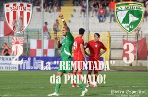 """Barletta-Avellino 2-3, """"REMUNTADA"""" firmata Izzo, Castaldo(nella foto relativa alla gara d'andata) e Zigoni. Momentaneo 2-0 firmato Allegretti-Burzigotti. 3 punti che valgono il primato!"""