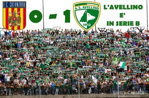 Un goal di Zigoni al 29' st. permette all'Avellino di battere il Catanzaro e volare in SERIE B..IL SOGNO DIVENTA REALTA'!