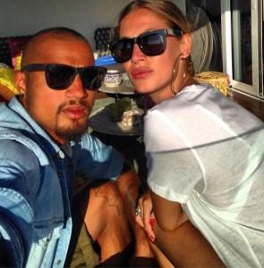 Boateng e Melissa Satta (foto dal web)