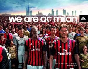 La nuova maglia del Milan
