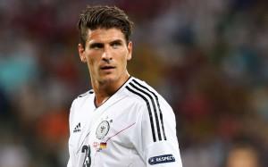 Mario Gomez con la maglia della nazionale tedesca (foto dalla rete)