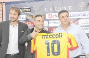Fabrizio Miccoli, uno dei protagonisti della prossima Lega Pro (foto dalla rete)