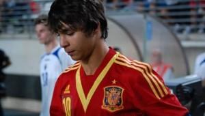 Oliver Torres con la maglia della Spagna (foto dalla rete)