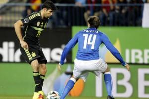 Paletta e Diego Costa (foto dalla rete)