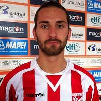 Alex Benvenga, difensore del Forlì (foto dalla rete)