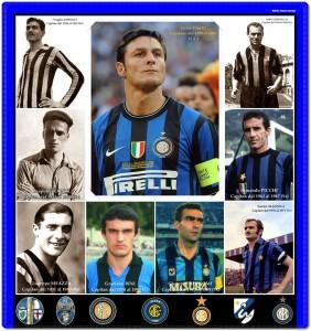 Zanetti e i capitani dell'Inter