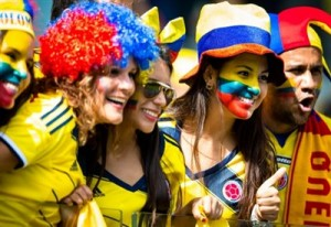 Tifosi della Colombia in Brasile (foto dalla rete)
