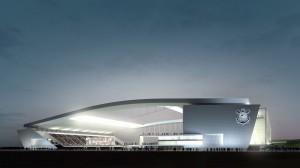 L'Arena Corinthians di Sao Paulo come era previsto che fosse  (foto www.wallpaperalpha.com)