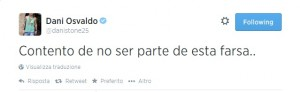 Il tweet polemico di Osvaldo