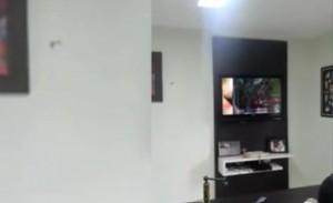 La tv rotta dal tifoso