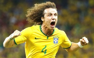 David Luiz esulta per il 2-0 alla Colombia  (www.telegraph.co.uk)