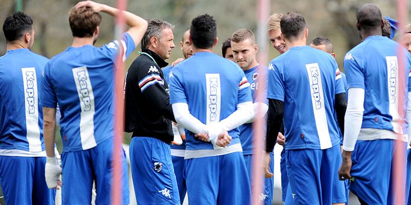 Allenamento calcio Sampdoria nuova