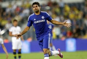 Diego Costa già segna per il Chelsea  (foto www.rappler.com)