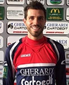 Gabriele Bevilacqua, in gol contro il Sangimignano (foto:groupcastello.it)