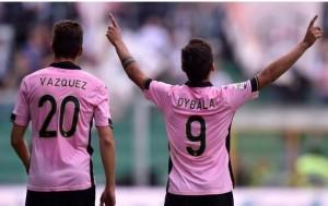 Franco Vazquez e Paulo Dybala (foto dalla rete)