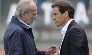 Walter Sabatini e Rudi Garcia a colloquio (foto dalla rete)