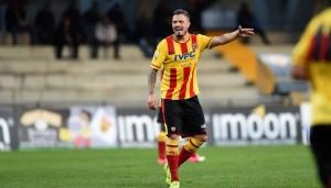 Umberto Eusepi, attaccante del Benevento (foto dal web)