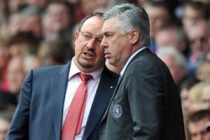 Benitez e Ancelotti quando allenavano Premier League