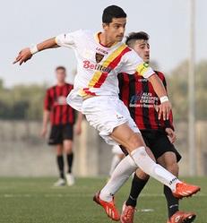 Gianmarco Monaco con le giovanili del Lecce