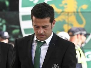 L'allenatore Marco Silva, qui con l'unifrme ufficiale dello Sporting Club  (fonte foto www.record.xl.pt)