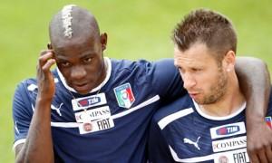 Italy's Balotelli and Cassano