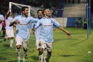 Cellini esulta dopo il gol
