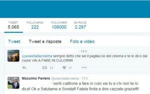 Parole grosse tra un follower e Ferrero