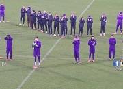 I calciatori della Fiorentina formano un cuore