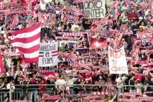 La curva dei tifosi del Piacenza