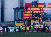 San Severo festeggia con i tifosi (foto Fb Usd San Severo Calcio)