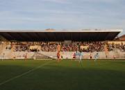 La tribuna dello Stadio Girardengo di Nove Ligure
