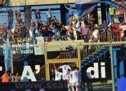 L'esultanza dei calciatori dell'Akragas in quel di Catanzaro