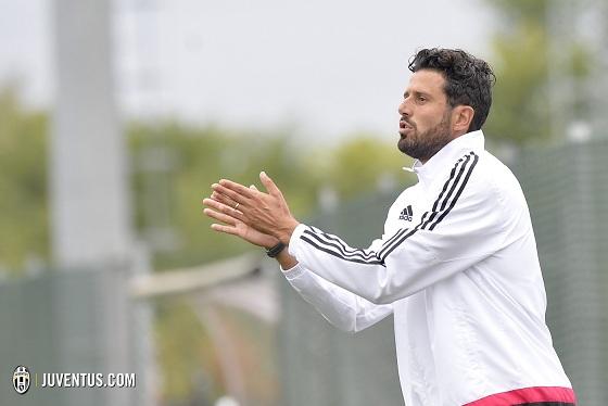 Fabio Grosso tecnico della Primavera della Juventus (foto: juventus.com)