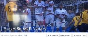 """La pagina Facebook """"No al rinnovo di Montolivo"""""""