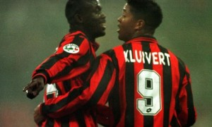Kluivert e Weah con la maglia del Milan (foto dal web)