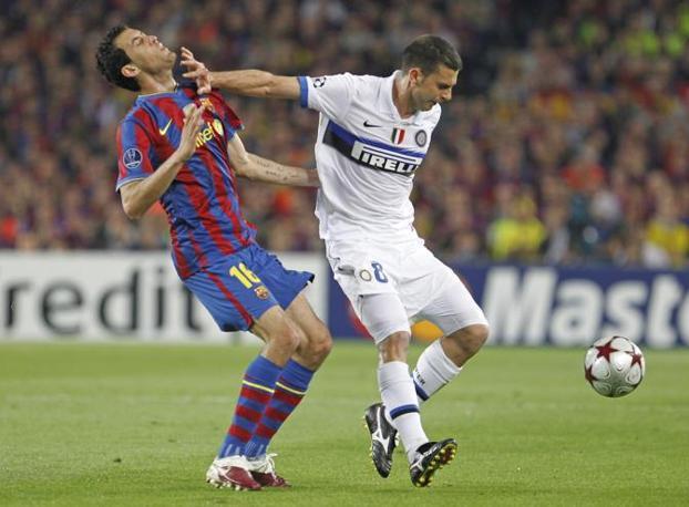 L'espulsione di Thiago Motta al Camp Nou nel 2010