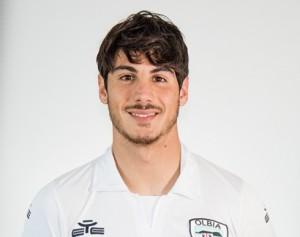 Giuseppe Mastinu, attaccante dell'Olbia (foto: olbiacalcio.com)
