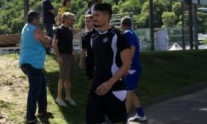 Ivan Varone con la nuova maglia del Lugano