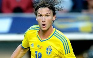 Albin Ekdal, centrocampista della Svezia