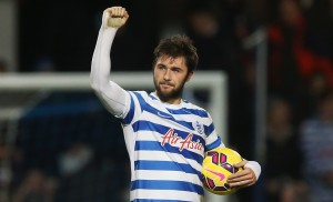 during the Barclays Premier League match between Queens Park Rangers and West Bromwich Albion at Loftus Road on December 20, 2014 in London, England.