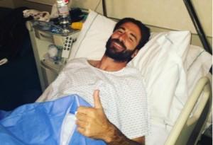 Nando Sforzini dopo l'intervento