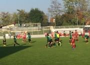Alessio Zerbin festeggiato dopo un gol