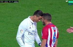 Lo scontro tra Ronaldo e Koke