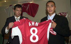 Ahn Jung-Hwan con la maglia del Perugia