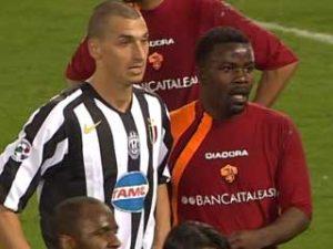 Kuffour in marcatura su Ibrahimovic